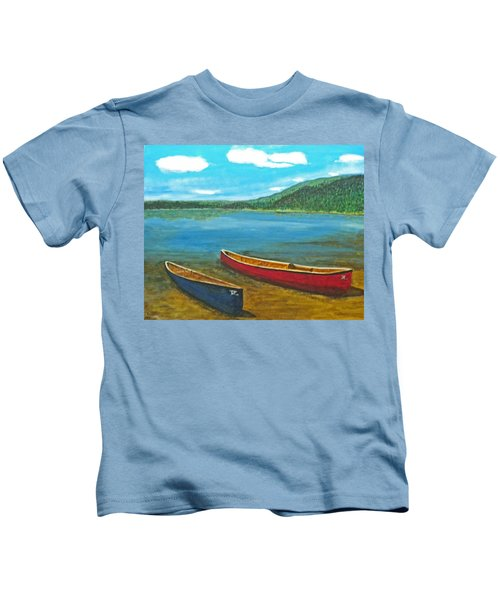 Two Canoes Kids T-Shirt