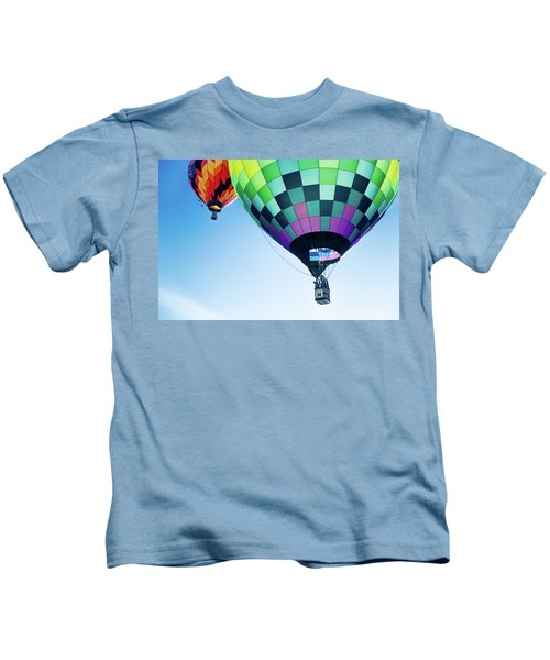 Two Hot Air Balloons Ascending Kids T-Shirt