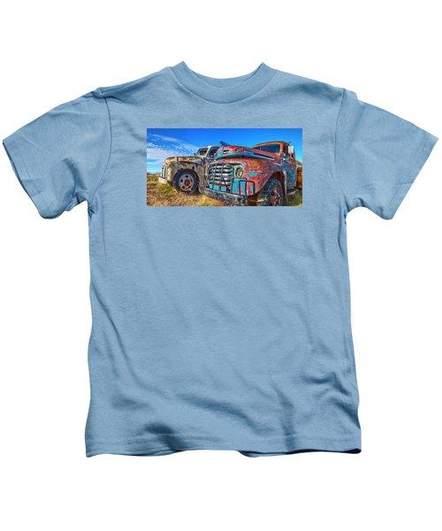 Two Trucks Kids T-Shirt