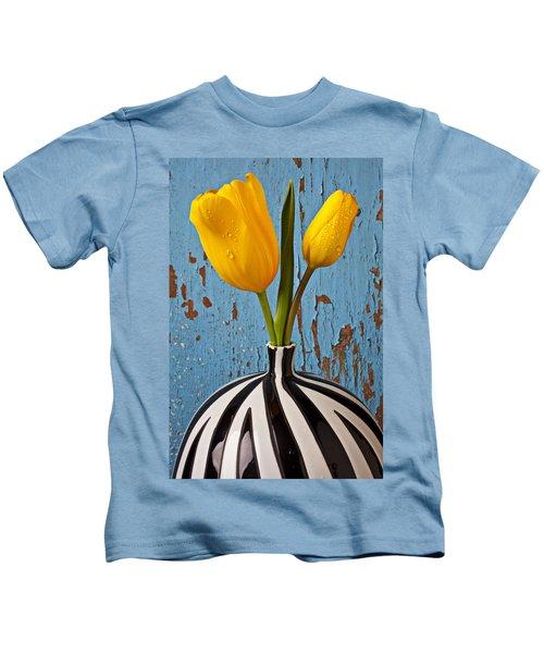 Two Yellow Tulips Kids T-Shirt