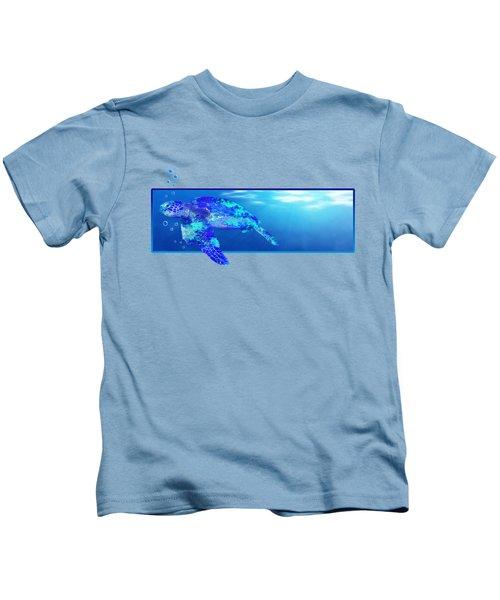 Underwater Sea Turtle Kids T-Shirt by Chris MacDonald