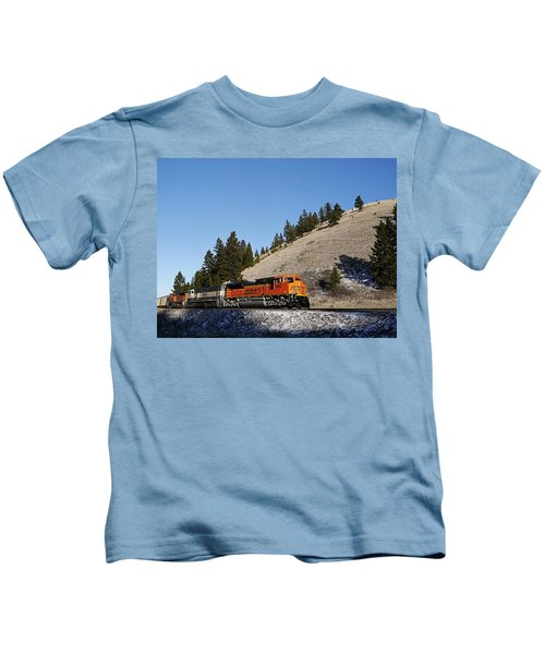 Up Hill And Into The Sun Kids T-Shirt