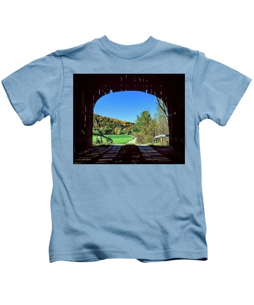 Vermont Covered Bridge Kids T-Shirt