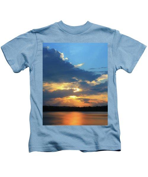 Vibrant Sunset Kids T-Shirt