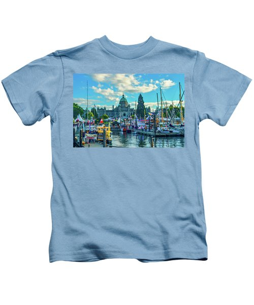 Victoria Harbor Boat Festival Kids T-Shirt
