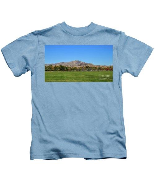 View From Gem Island Sport Complex Kids T-Shirt
