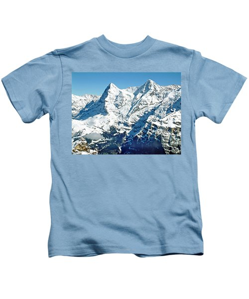 View Of The Eiger From The Piz Gloria Kids T-Shirt