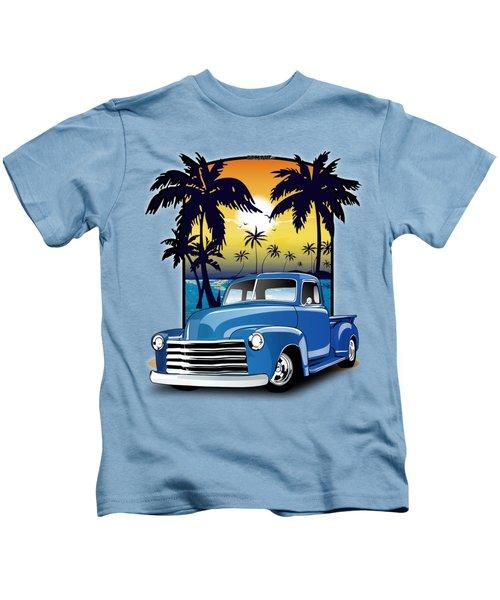 Vintage Blue Advance-design Series 1948 Chevrolet Pick Up Truck 48 Chevy Pickup Truck  Kids T-Shirt