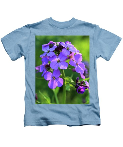 Purple Flower Kids T-Shirt