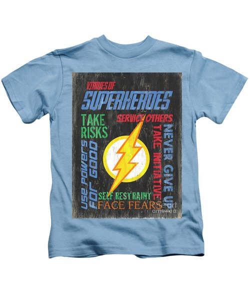 Virtues Of A Superhero 2 Kids T-Shirt