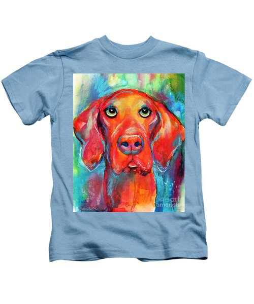 Vizsla Dog Portrait Kids T-Shirt