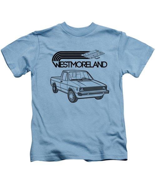 Vw Rabbit Pickup - Westmoreland Theme - Black Kids T-Shirt