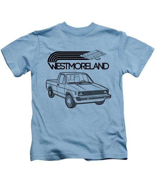 Vw Rabbit Pickup - Westmoreland Theme - Black Kids T-Shirt