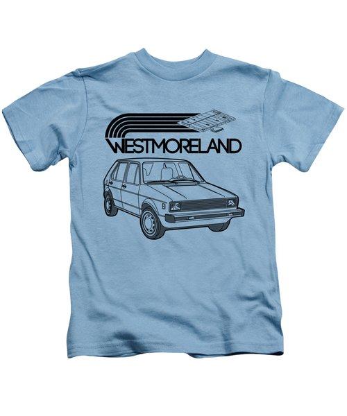 Vw Rabbit - Westmoreland Theme - Black Kids T-Shirt by Ed Jackson