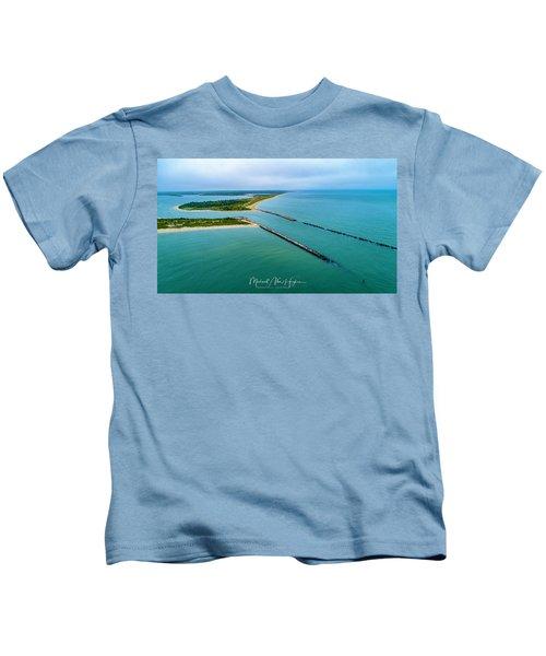 Waquiot Bay Breakwater Kids T-Shirt