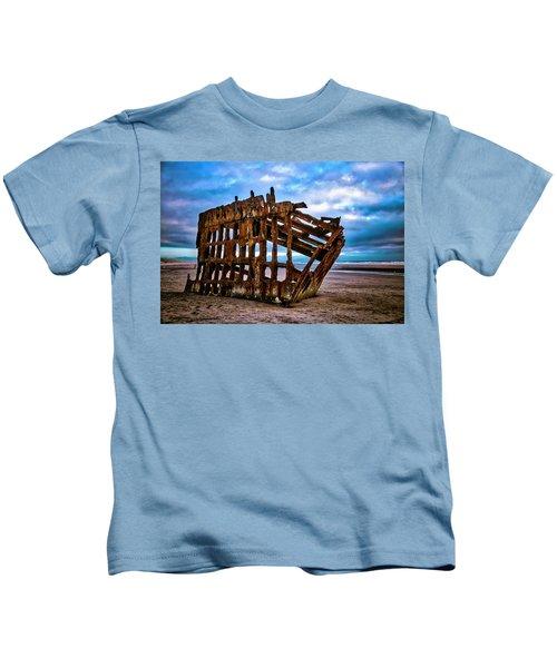 Weathered Shipwreck Kids T-Shirt
