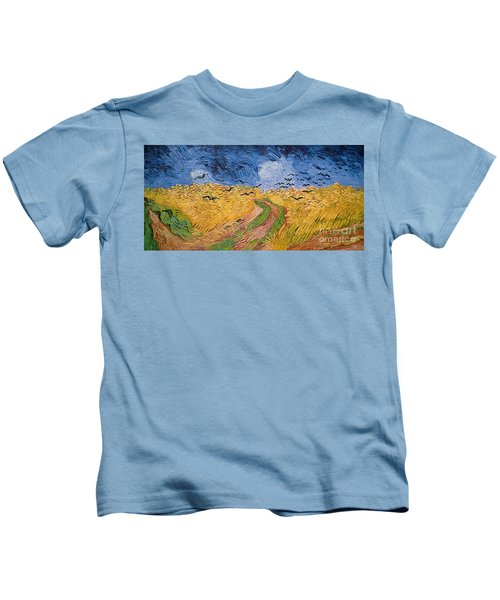Wheatfield With Crows Kids T-Shirt