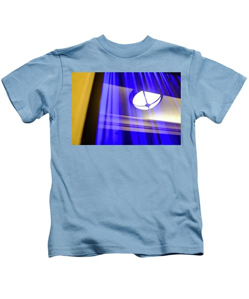 White Light With Blue And Yellow In Winter Park Florida Kids T-Shirt