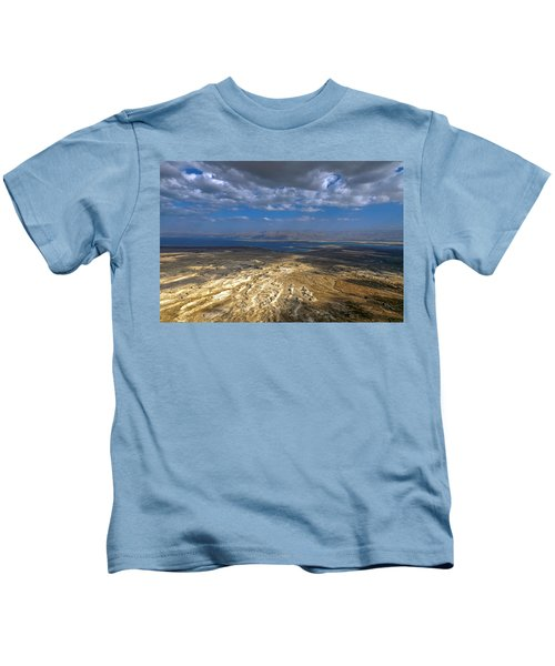 Wide View From Masada Kids T-Shirt