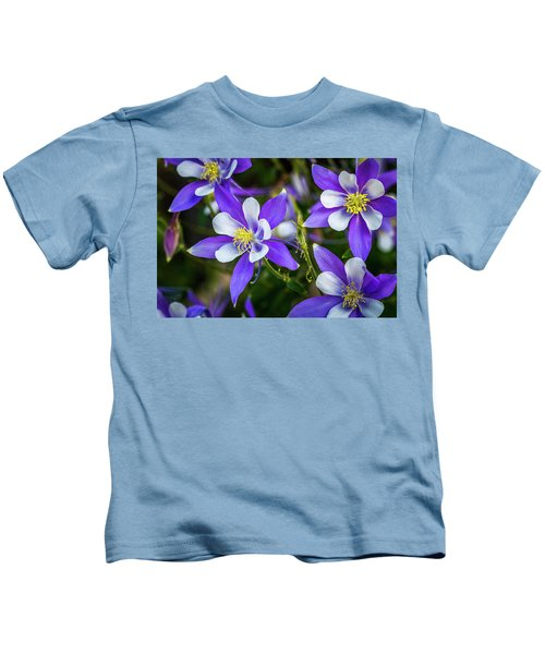 Wildflowers Blue Columbines Kids T-Shirt