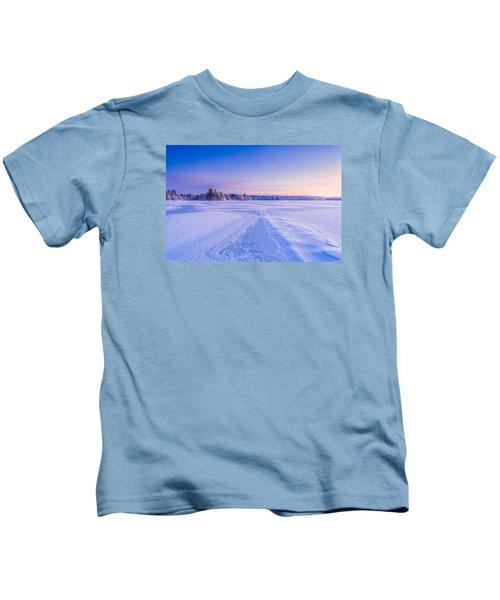 Winter Morning Baxter Lake Nh Kids T-Shirt