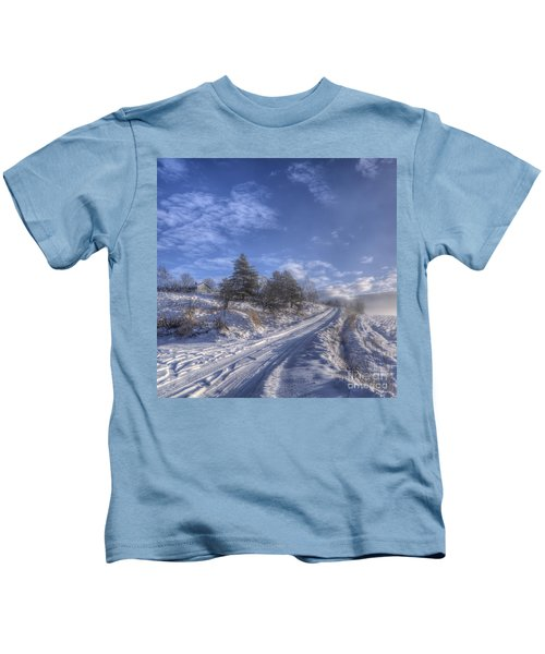 Wintry Road Kids T-Shirt