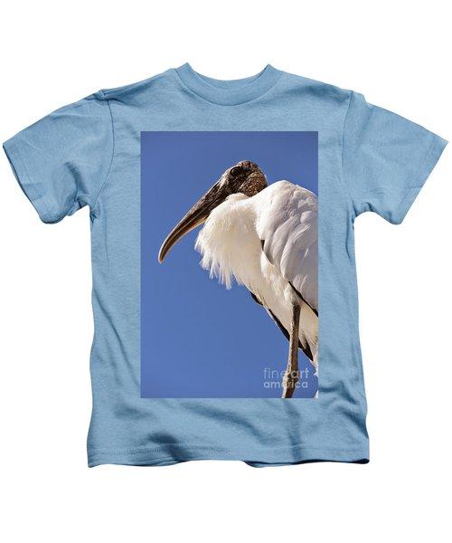 Wonderful Wood Stork Kids T-Shirt by Carol Groenen