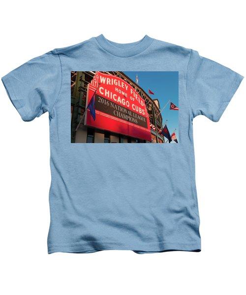 Wrigley Field Marquee Angle Kids T-Shirt
