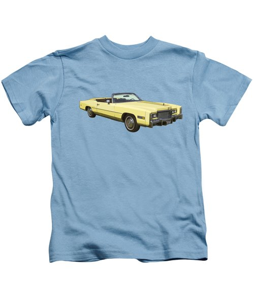 Yellow 1975 Cadillac Eldorado Convertible Kids T-Shirt