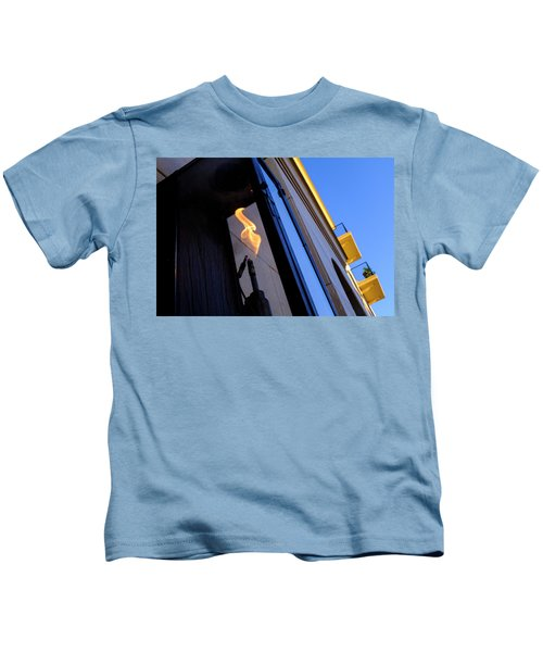 Yellow Flames And Blue Sky In Winter Park Florida Kids T-Shirt