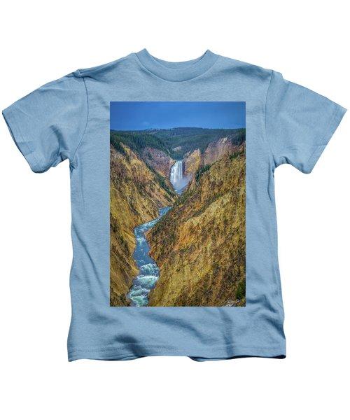 Yellowstone Falls Kids T-Shirt