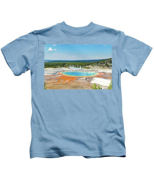 Yellowstone Grand Prismatic Spring  Kids T-Shirt