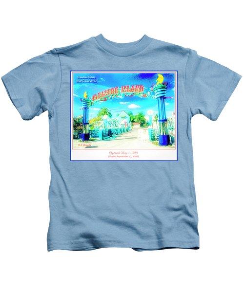 Pleasure Island Sign And Walkway Downtown Disney Kids T-Shirt