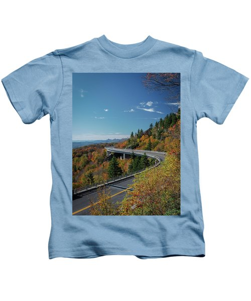 Linn Cove Viaduct - Blue Ridge Parkway Kids T-Shirt