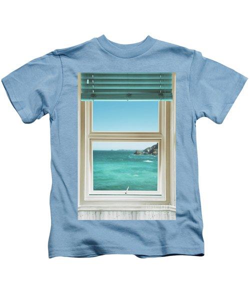 Window Overlooking The Ocean Kids T-Shirt