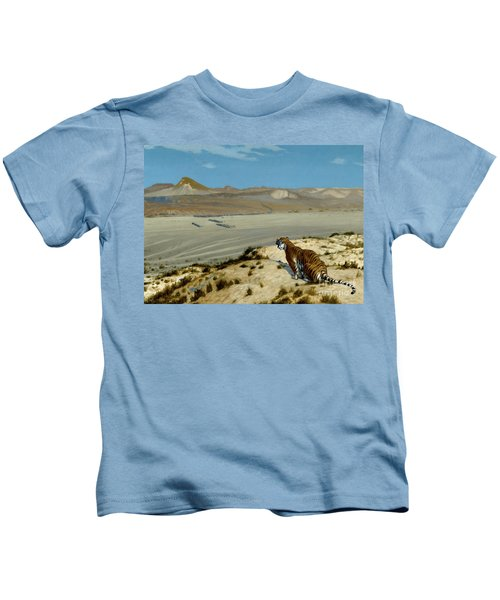 Tiger On The Watch Kids T-Shirt