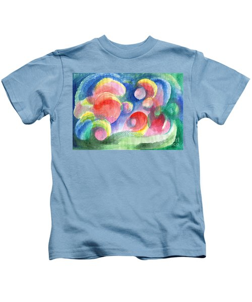 Abstract Bubbles Watercolor Kids T-Shirt