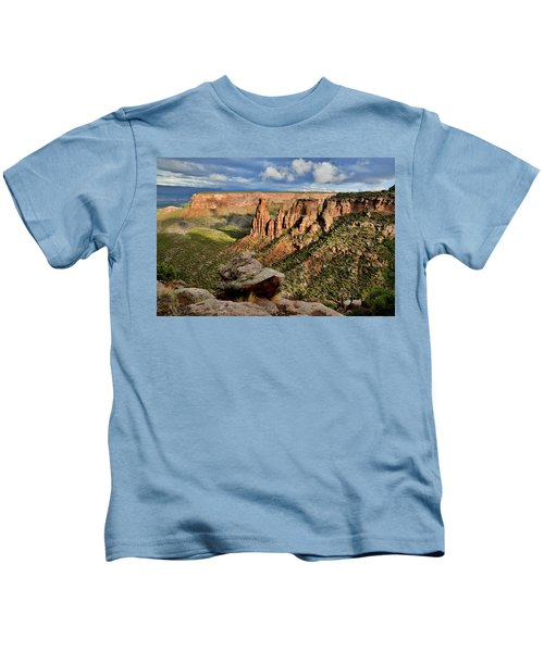 After The Storm Light On Colorado National Monument Kids T-Shirt