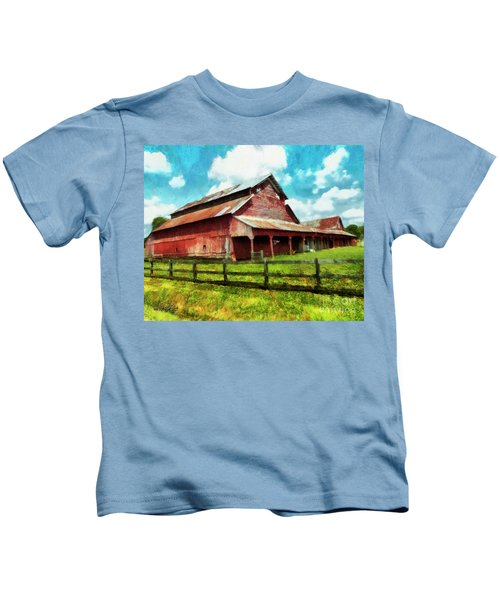 Along The Rural Road Old Barn In Tennessee IIi Kids T-Shirt