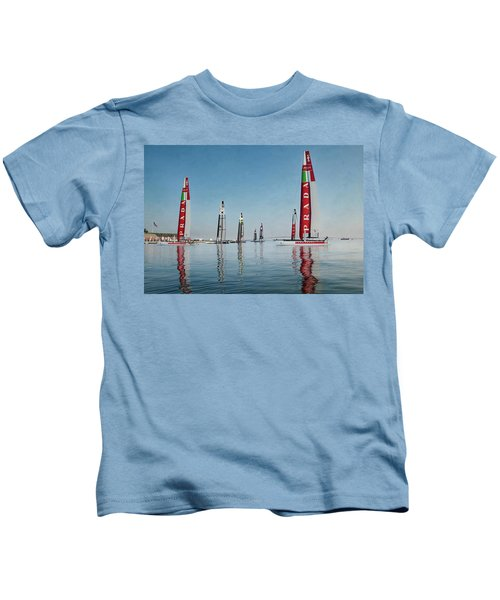 America Cup Boat Reflections Kids T-Shirt