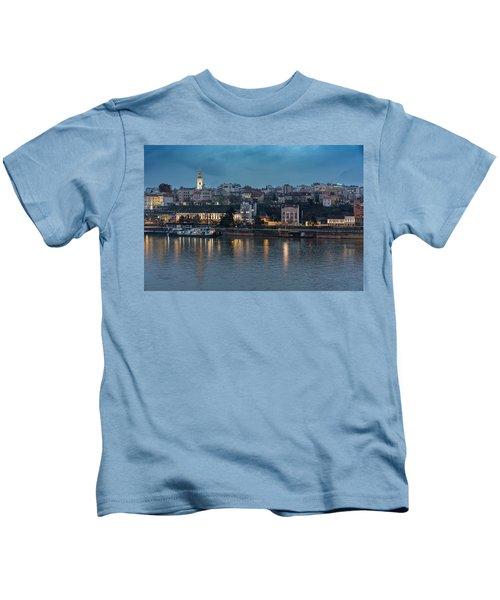 Belgrade Skyline And Sava River Kids T-Shirt