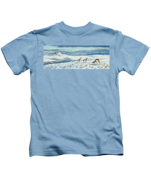 Belt Butte Winter Kids T-Shirt