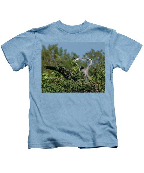 Breeding Herons Kids T-Shirt