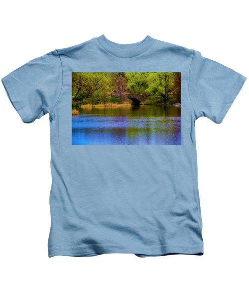 Bridge In Central Park Kids T-Shirt