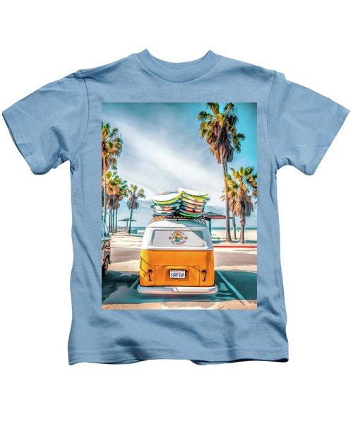 California Surfer Vw Camper Van Kids T-Shirt