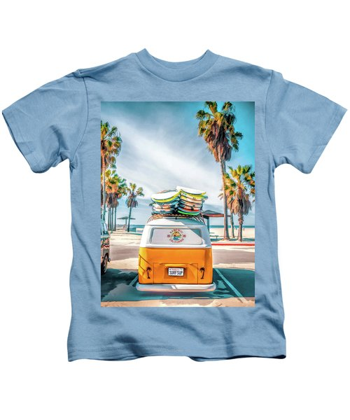 California Surfer Vw Camper Van Kids T-Shirt