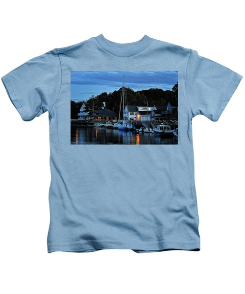 Camden Maine Twightlight Kids T-Shirt