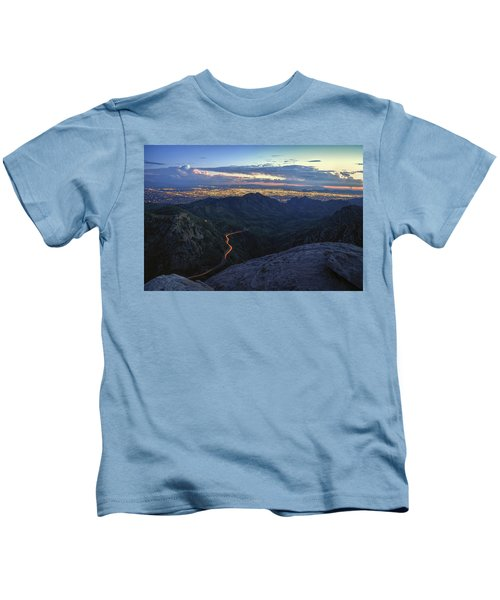 Catalina Highway And Tucson Kids T-Shirt