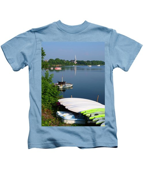 Chambly Basin And The Church Of St Joseph In Quebec Kids T-Shirt