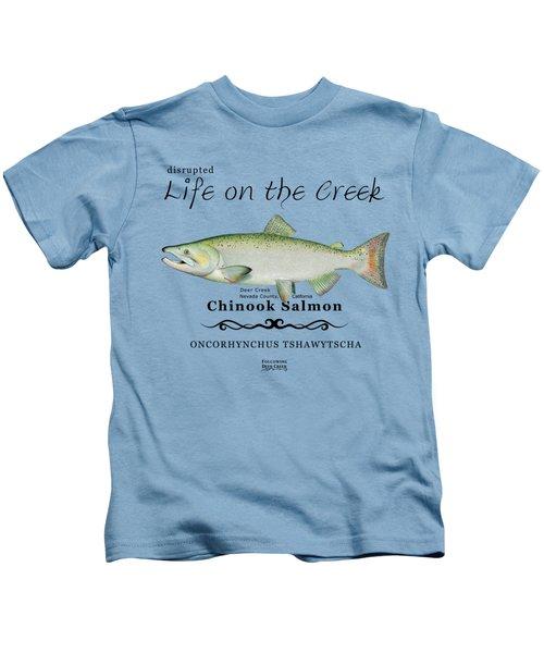 Chinook Salmon Disrupted Kids T-Shirt